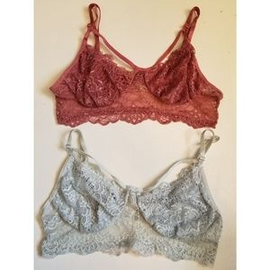 Charlotte Russe strappy bralettes